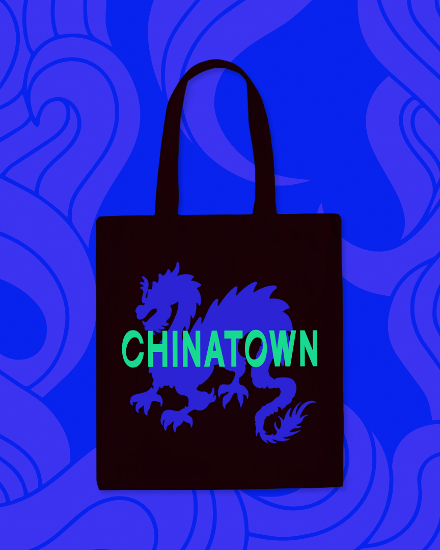 Chinatown Collection Dragon Tote Bag