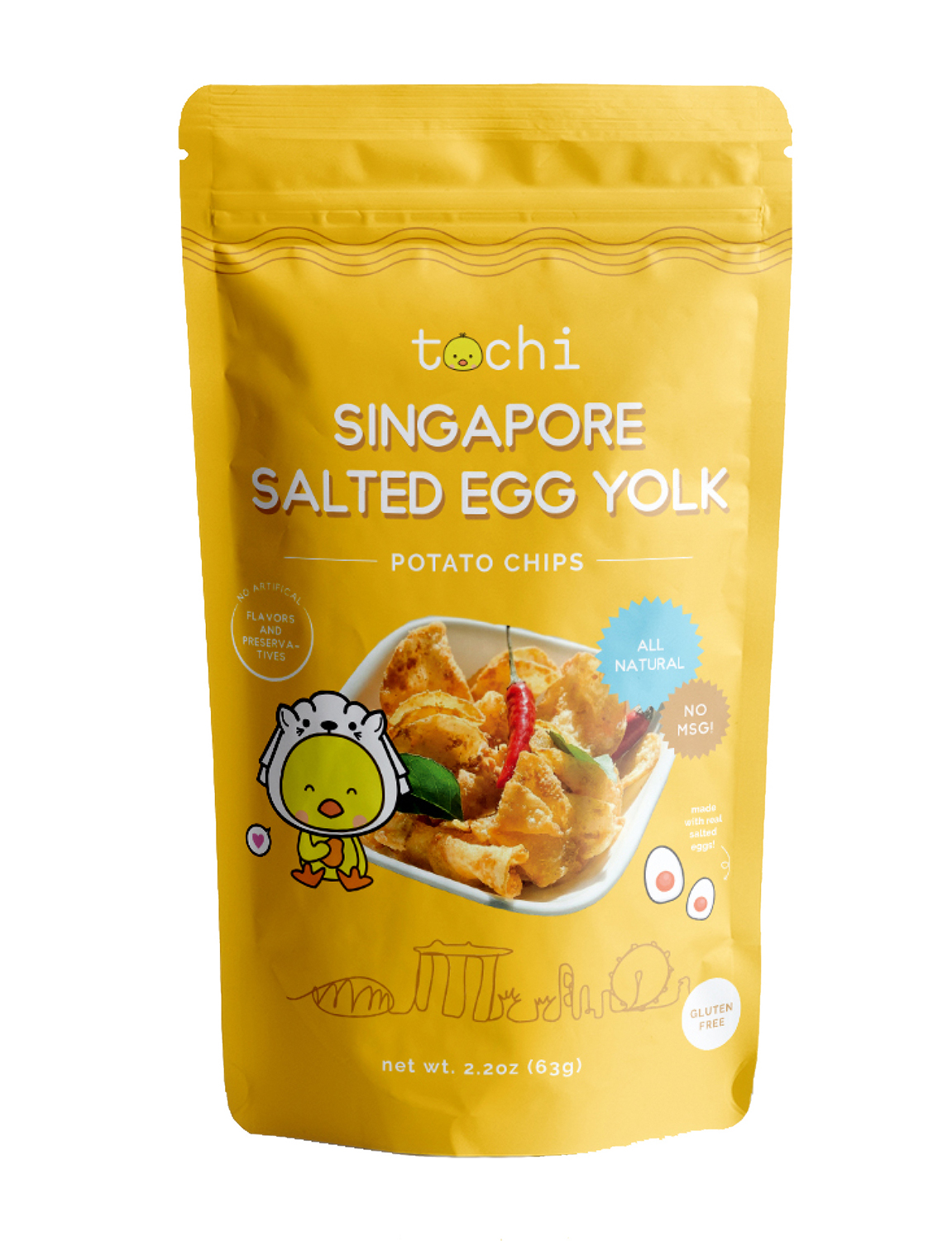 Singapore Spicy Salted Egg Yolk Potato Chips